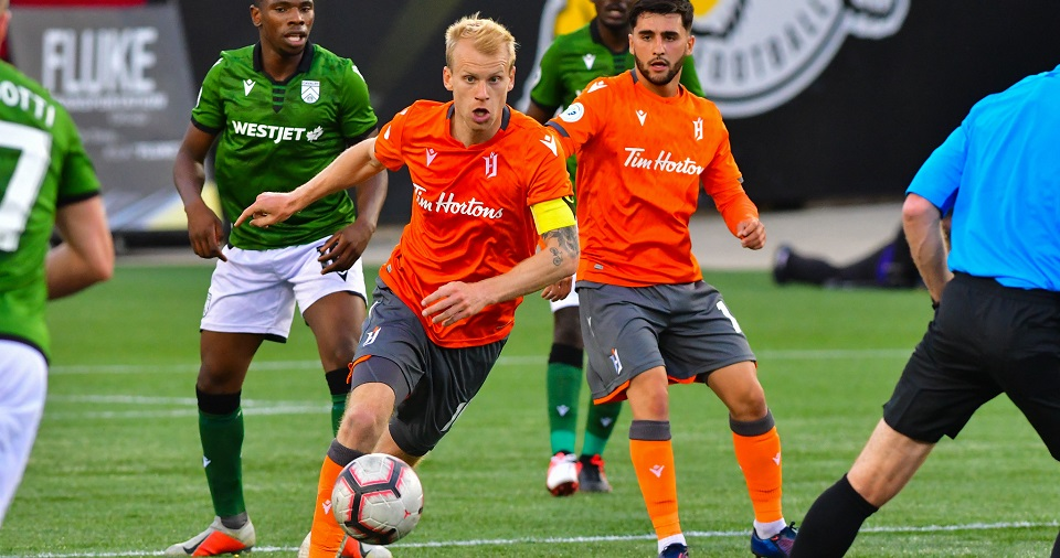 Kyle Bekker with Forge FC